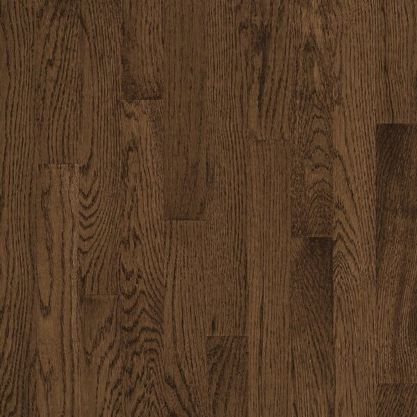 2-1/4 Solid Oak Hardwood Flooring in High Glossy Walnut by Bruce Flooring