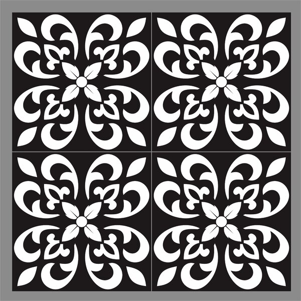 Gallery 8 x 8 Ceramic Field Tile Pamplona Black by Mulia Tile