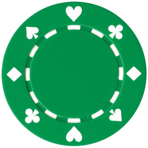 Suited Texas Hold Em Poker Chip by Trademark Global