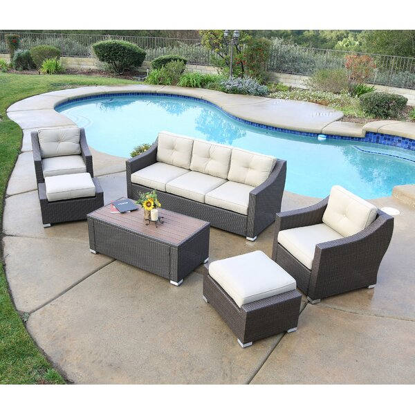 Leib Luxury 6 Piece  Rattan Sofa Seating Group with Cushion by Latitude Run