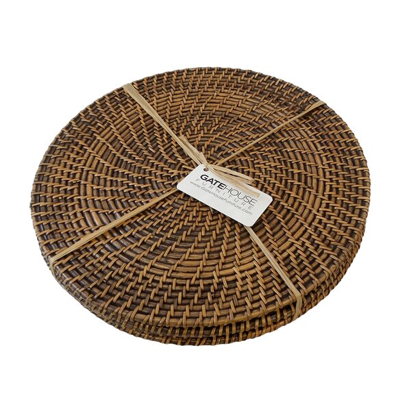 Rattan Bali Weave Round Placemat (Set of 4) by Gate House Furniture