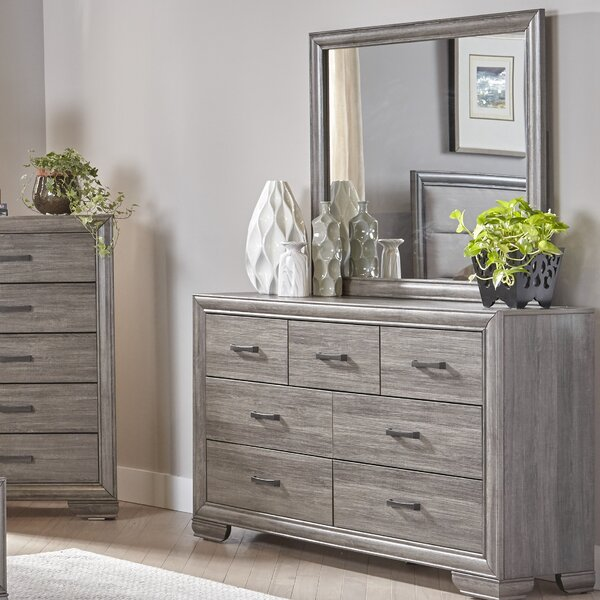 Chicora 7 Drawer Dresser with Mirror by Ophelia & Co.