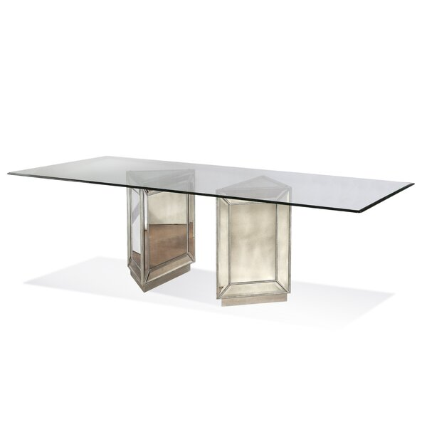 Frasier Mirrored Dining Table by House of Hampton House of Hampton