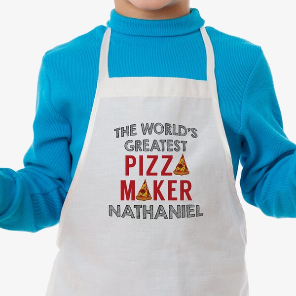 Pizza Maker Custom Kid Apron by Monogramonline Inc
