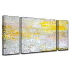 'Sun in My Eyes' by Norman Wyatt Jr. 3 Piece Painting Print on Wrapped Canvas Set by Ready2hangart