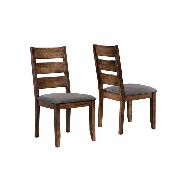 Upchurch Ladder Back Solid Wood Dining Chair (Set Of 2) By Millwood Pines by Millwood Pines Spacial Price