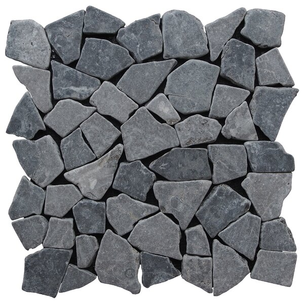 Fit Natural Stone Mosaic Tile in Gray by Pebble Tile