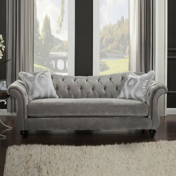 Clarkston Premium Velvet Sofa by Canora Grey