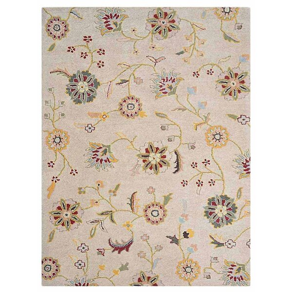 Creamer Hand-Tufted Cream Area Rug by Darby Home Co
