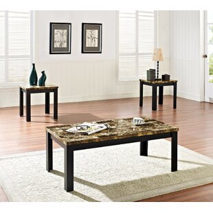 Cai Coffee Table Set (Set of 3) Ebern Designs