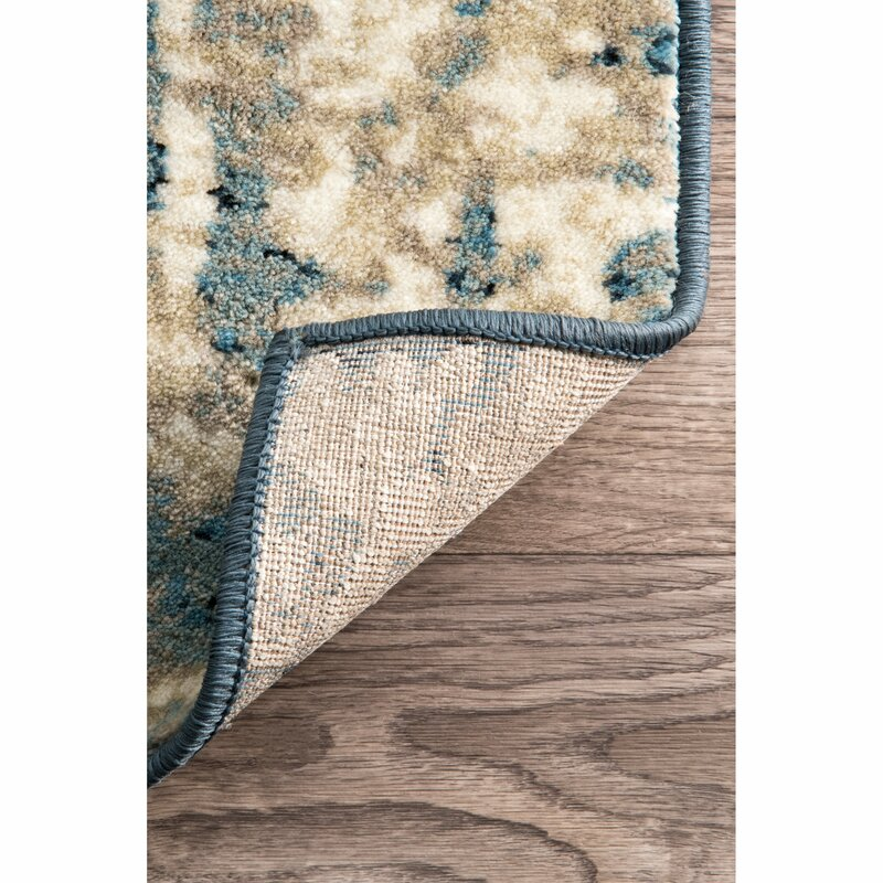 trent austin design montross blue area rug & reviews | wayfair Area Rug Pad