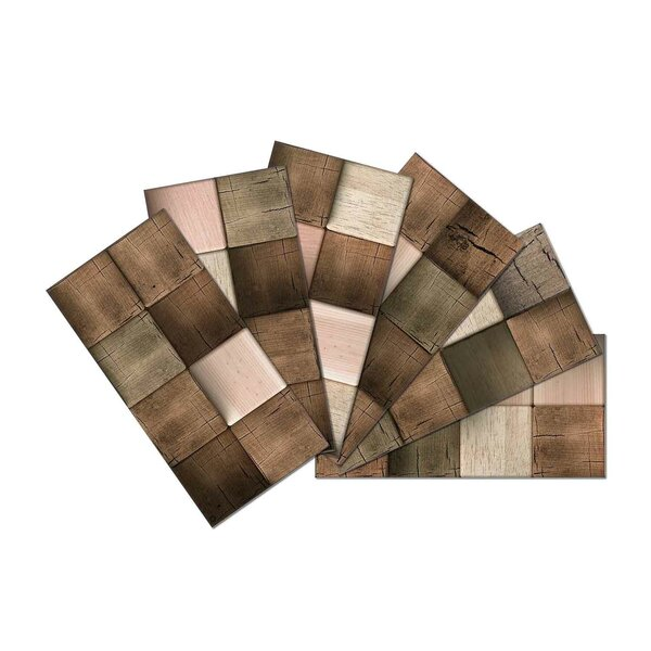 Crystal Skin 3 x 6 Glass Subway Tile in Brown/Cream by SkinnyTile