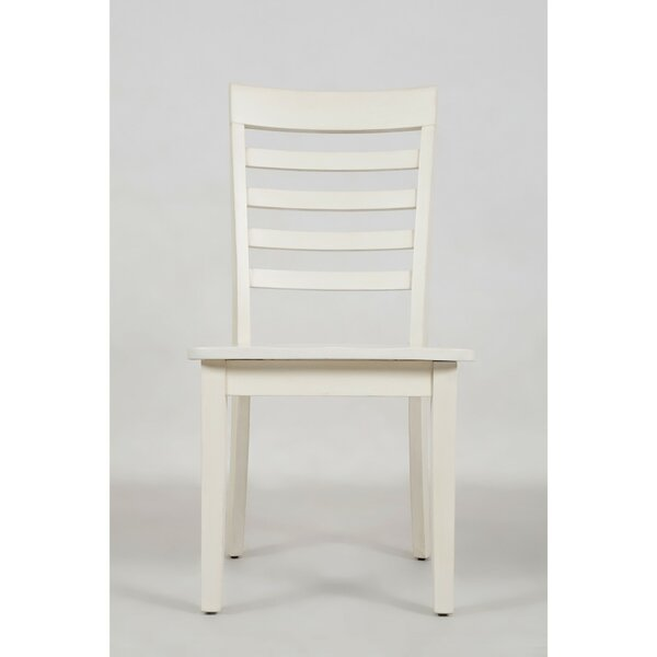 Alfred Ladder Back Solid Wood Dining Chair (Set Of 2) By Longshore Tides Longshore Tides