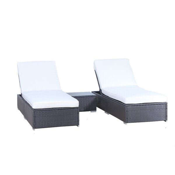 3 Piece Chaise Lounge Set with Cushion by Auro Furniture Auro Furniture