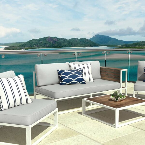 Outdoor Loveseat with Cushions by Zinus