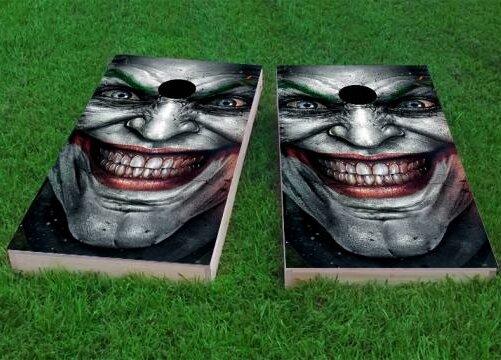 The Joker Cornhole Game (Set of 2) by Custom Cornhole Boards