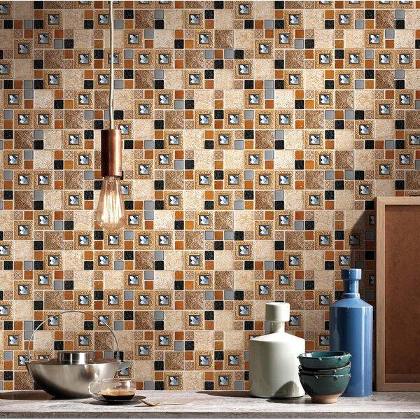 2 x 2 Glass Random Mosaic Wall & Floor Tile