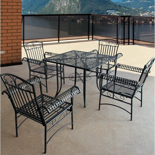 Criner Courtyard 5 Piece Dining Set by August Grove