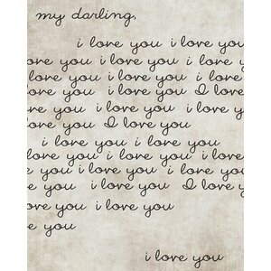 'Darling I Love You' Textual Art on Wrapped Canvas by PTM Images