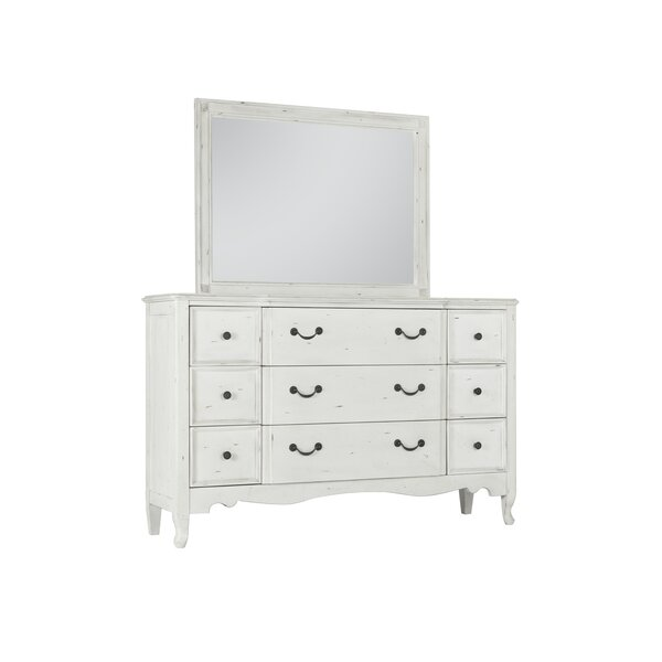 Zeke 9 Drawer Double Dresser With Mirror By One Allium Way by One Allium Way Savings