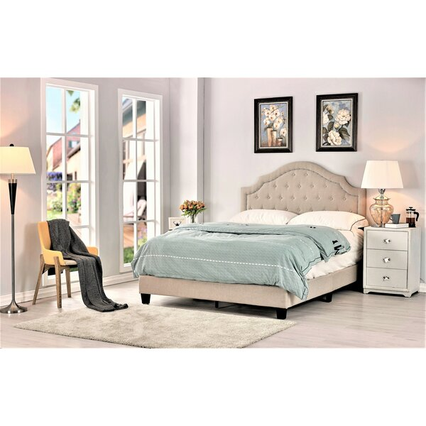 Sisk Upholstered Standard Bed by Charlton Home