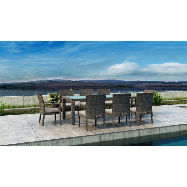 Gilleland 9 Piece Dining Set With Sunbrella Cushion By Orren Ellis