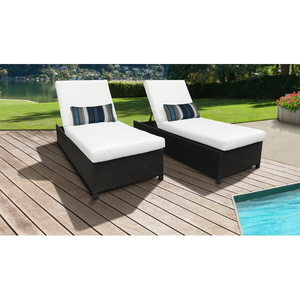 Tegan Sun Lounger Set with Cushion (Set of 2) by Sol 72 Outdoor