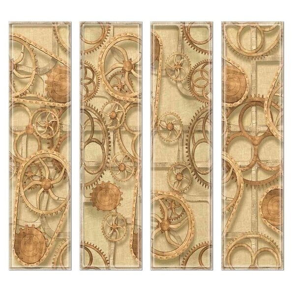 Crystal 3 x 12 Beveled Glass Subway Tile in Brown by Upscale Designs by EMA