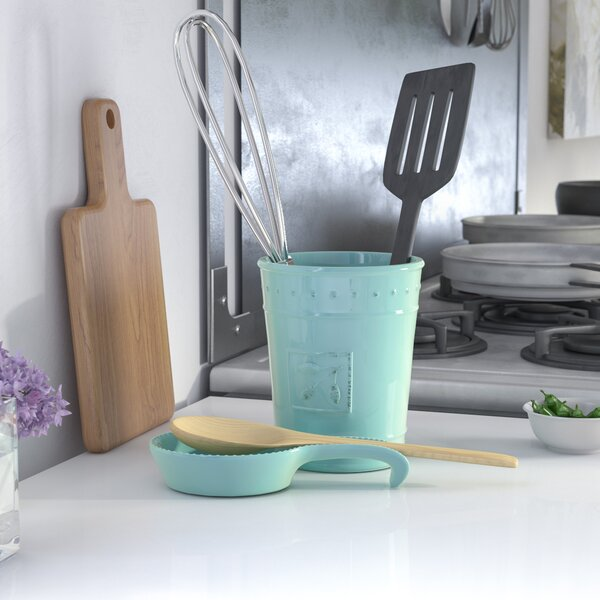 Spoon Rest and Utensil Crock by Lark Manor