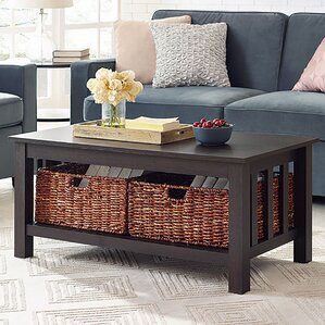 goldhorn wood storage coffee table