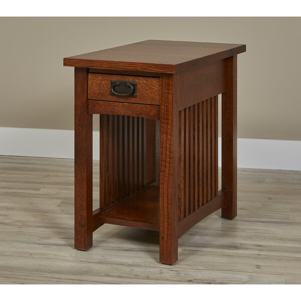 Linnea Solid Wood End Table With Storage By Millwood Pines
