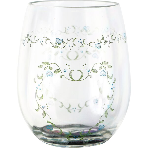 Country Cottage 16 oz. Acrylic Stemless Wine Glass (Set of 4) by Corelle