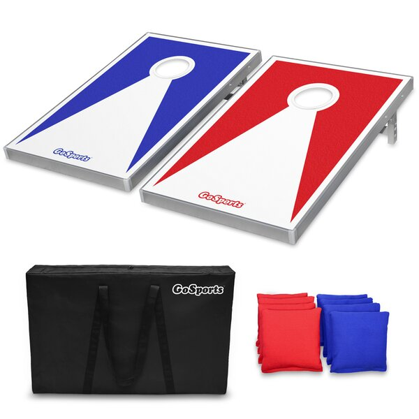 Cornhole Set with Aluminum Frame by GoSports
