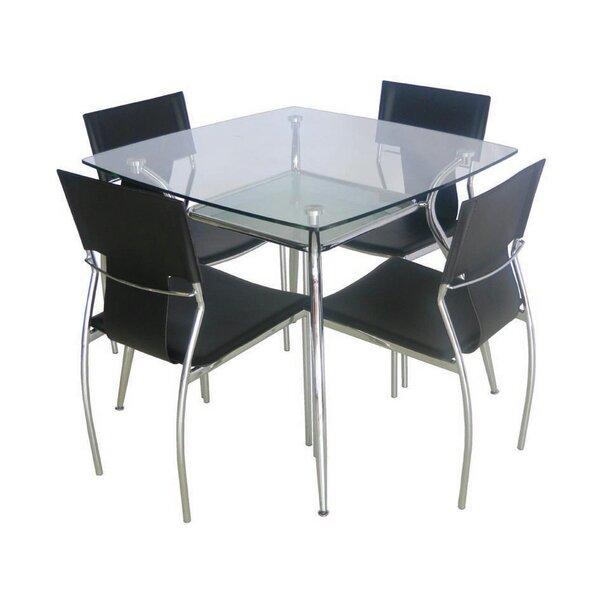Thiel Tempered Glass Dining Table by Orren Ellis Orren Ellis