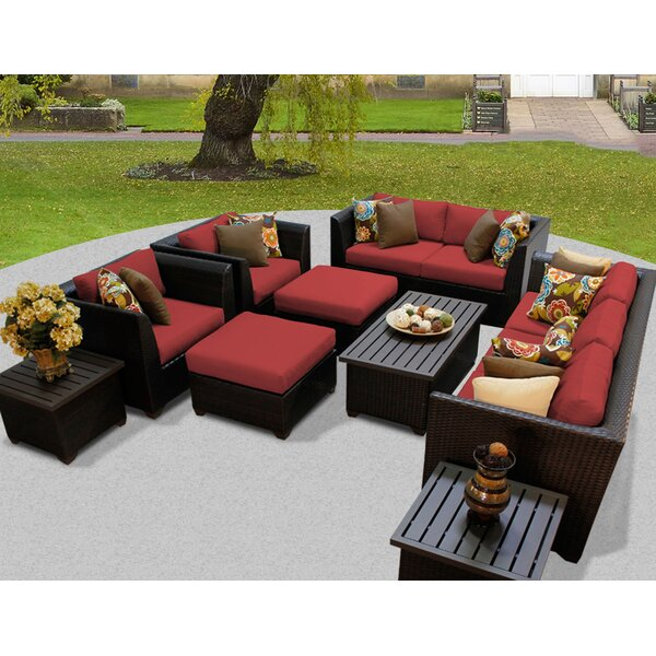 Barbados 12 Piece Sectional Set with Cushions by T