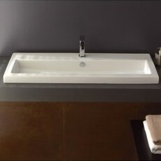 40 Ceramic 40 Wall Mount Bathroom Sink with Overflow by Ceramica Tecla by Nameeks
