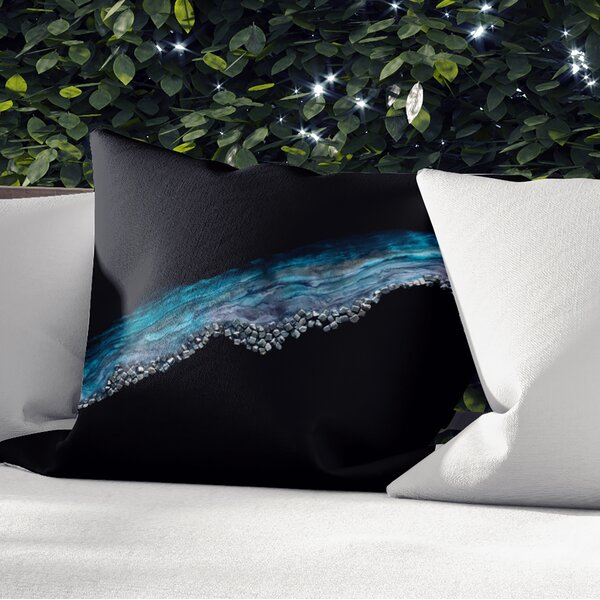 Hedman Sky Outdoor Square Pillow Cover and Insert