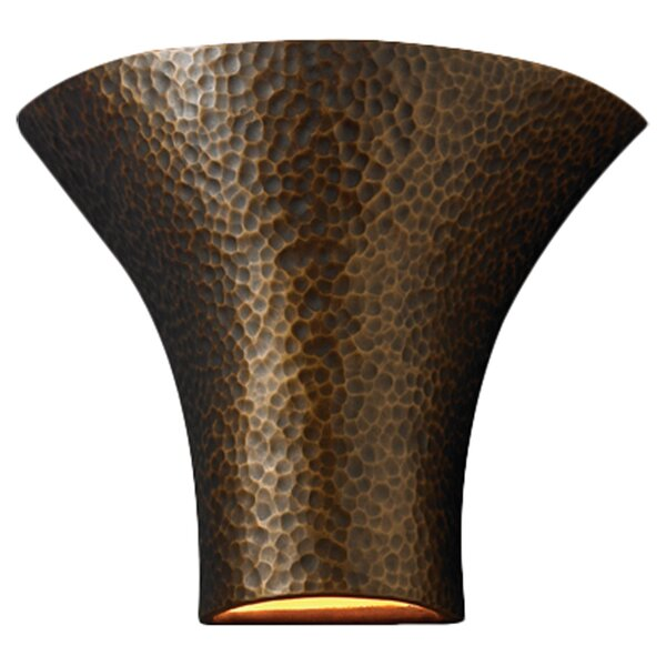 Pershing Open Top and Bottom Large Round Flared 1 Light Wall Sconce by Brayden Studio