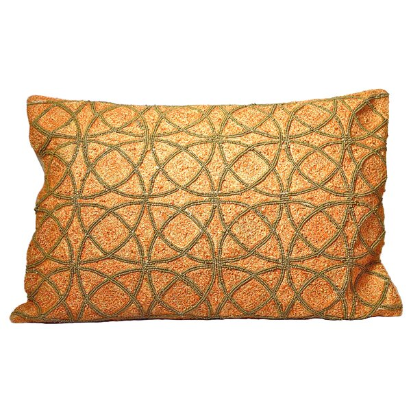 Love Circles Cotton Lumbar Pillow by Debage Inc.