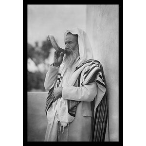 'Rabbi Blowing the Shofar' by Matson Photo Service Framed Photographic Print by Buyenlarge