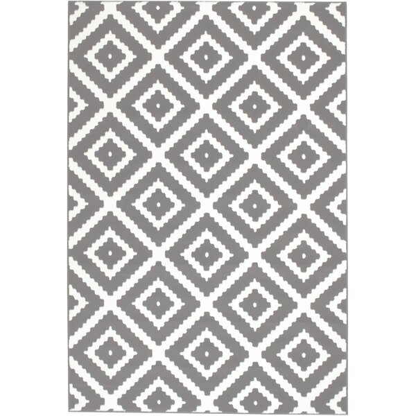 Erick Gray Area Rug by Ebern Designs