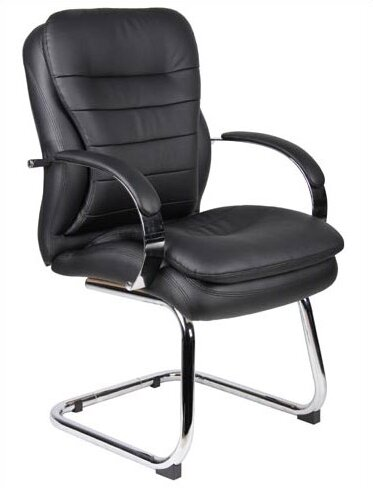 Leather Guest Chair by Boss Office Products