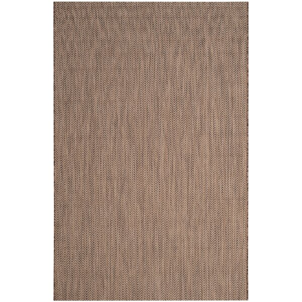 Mullen Brown/Beige Area Rug by Ebern Designs