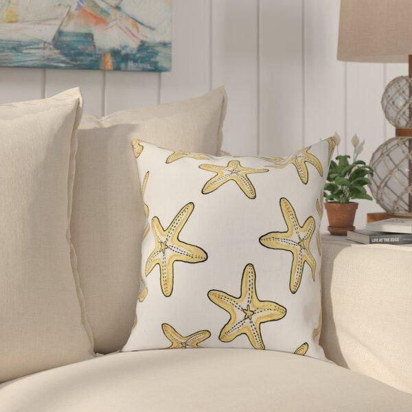 Cedarville Soft Starfish Geometric Print Throw Pillow by Highland Dunes