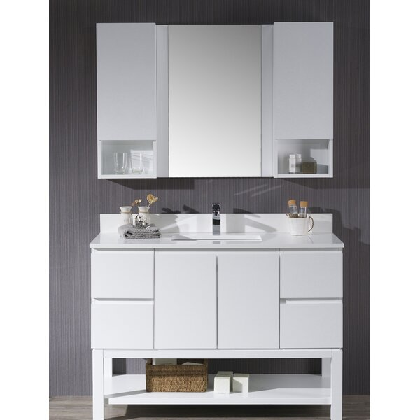 Maly 49 Single Bathroom Vanity Set with Mirror by Orren Ellis