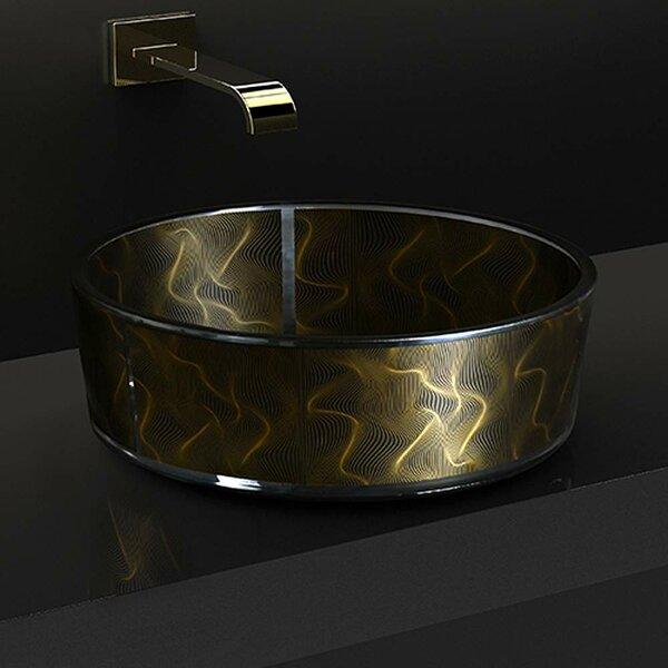 Atelier Modern Glass Circular Vessel Bathroom Sink by Maestro Bath