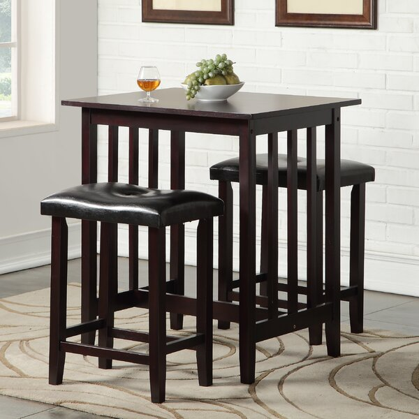 Andover Mills Richland 3 Piece Counter Height Pub Table Set Reviews Wayfair