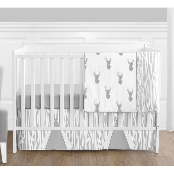 Woodland Deer 4 Piece Crib Bedding Set by Sweet Jojo Designs