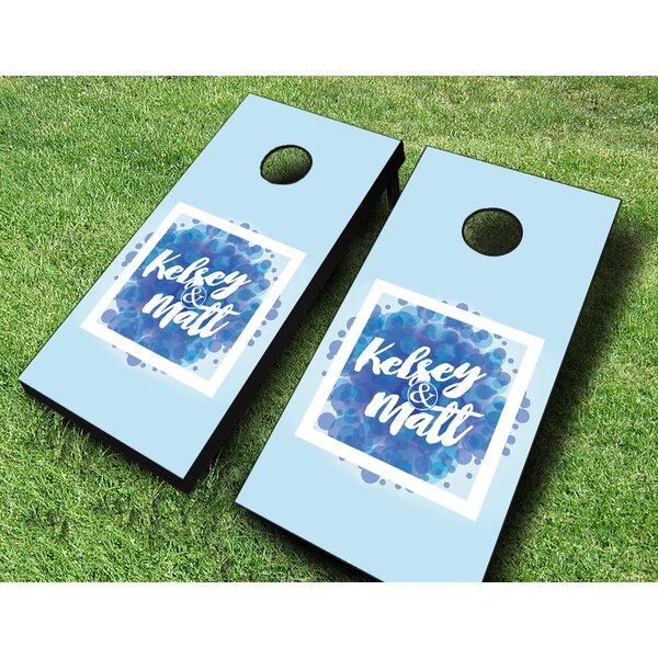 Vogue Wedding Cornhole Set by AJJ Cornhole