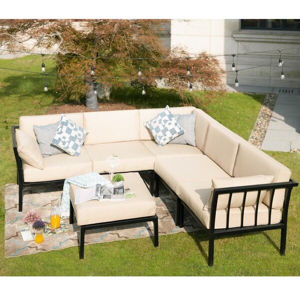 Overton 6-Piece Sectional Seating Group with Cushions by Alcott Hill